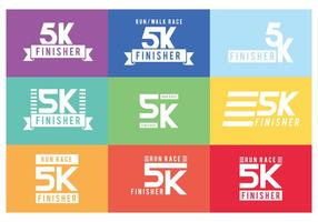 5K Graphics Labels vector