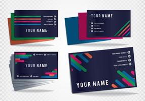 Business Card Tarjetas Vector Templates