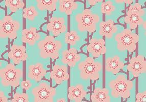 Flat Peach Blossom Pattern vector