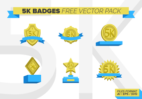 5k badges Gratis Vector Pack