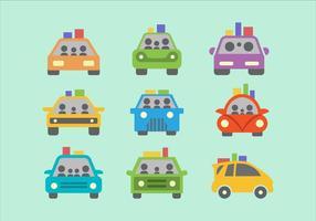 Carpool piatto colorato vettoriale