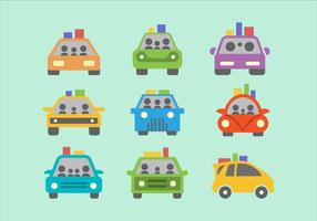 Kleurrijke Carpool Flat Vector