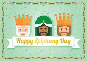 Three Wisemen For Epiphany Day vector