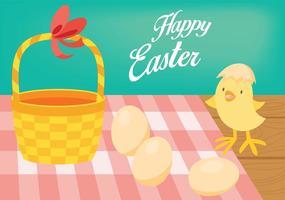 Antecedentes del polluelo de Pascua Vector