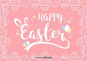 Pink Easter Background Vector
