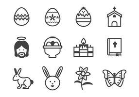 Vector libre de iconos de Pascua
