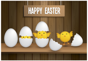 Free Easter Chicks Vector