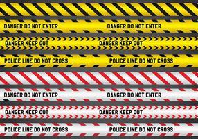 Polizei und Gefahr Linie Vektoren