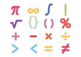 Matemáticas símbolos vectoriales