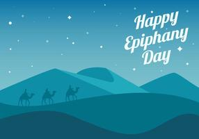 Free Happy Epiphany Day Background Vector