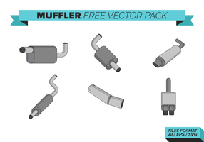 Ljuddämpare Free Vector Pack