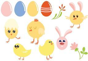 Vecteurs de Pâques gratuit