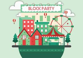 Block Party Vector Art