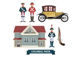 Colonial Paquet Vecteurs Collections