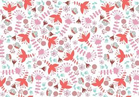 Pattern di whimsical floral Illustrator