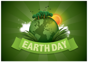 Green Earth Day Illustration Vector