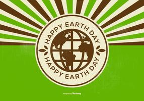 Retro Happy Earth Day Illustration