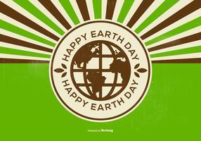 Ilustração retro Dia da Terra feliz