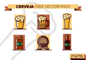 Cerveja paquete de vectores libres