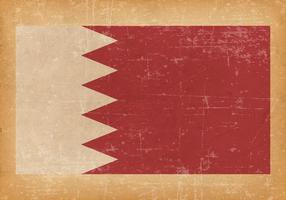 Flag of Bahrain on Grunge Background