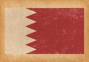 Bahrains flagga på grunge bakgrund