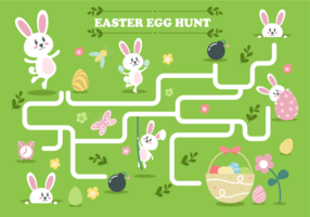 Easter Egg Hunt Illustration Vecteur