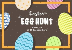 Free Easter Egg Hunt Card vector