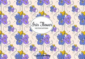 Padrão Iris Flowers Vector