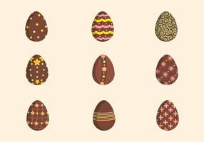 Los vectores de Pascua de chocolate planas