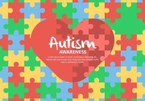 Puzzle Autism Background vector