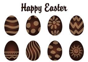 Vector uova di cioccolato al cioccolato