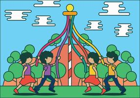 Maypole vector illustration