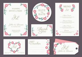 Boda Invitation Card Vector
