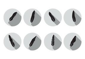 Pluma vecteur icônes
