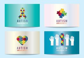 Autism Awareness Symbols vector