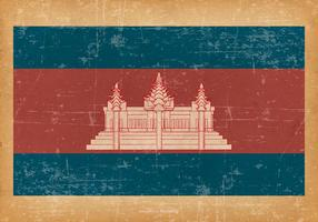 Vlag Grunge van Cambodja