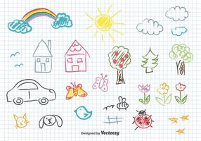 Los niños de dibujo vectorial