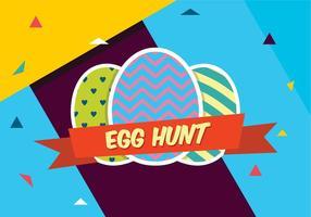 Caza de huevos de Pascua coloridos