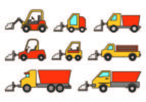 Set Of Snow Blower Icons