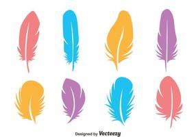 Vecteurs plumes d'oiseaux colorés