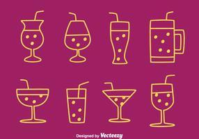 Fizz Iconos de la bebida Vectors
