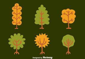 Hand Drawn träd med rötter vektorer