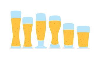 Niza los vidrios de cerveza Vectores