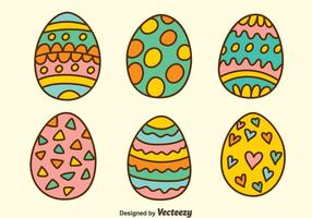 Hand Drawn Easter Eggs Vectors