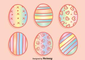 Rainbow Easter Eggs Vectors