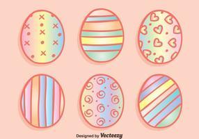 O arco-íris Eggs vetores de Páscoa