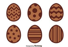 Nice Chocolate Easter Eggs Vectors