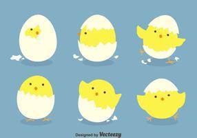 Divertidos huevos de Pascua Vectors