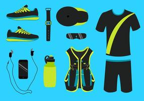 Running Equipment Vector