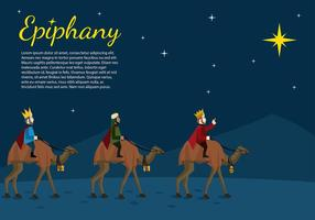 Epiphany Night tecknad Gratis Vector